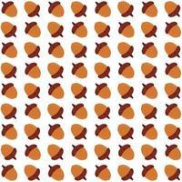 Yellow acorns seamless pattern vector