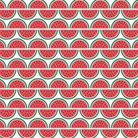 patrón de rodajas de sandía vector