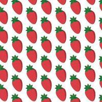 Strawberries pattern on white