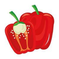 fresh pepper vegetable healthy food icon