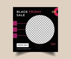 Black friday social media post design