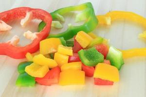 Diced bell peppers