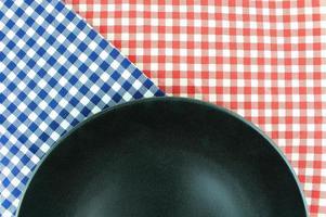 Black plate on cloth