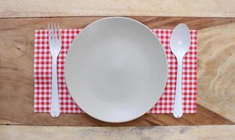 Top view of a place setting photo