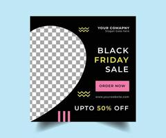 Black friday social media sale post design
