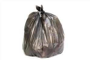 bolsa de basura negra foto