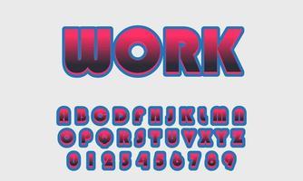 Vector of Stylized Font Alphabet