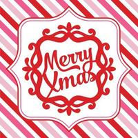 Merry Christmas Ornate Frame Background