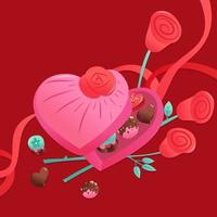 Sweet Valentine's Candies Chocolates Heart Box