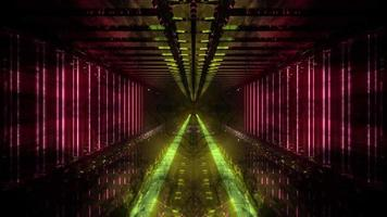 Dark Yellow Tunnel Dream Vision