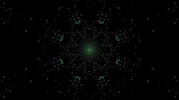 Ilustración 3d de ciencia ficción del túnel espacial en forma de estrella