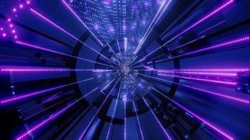 túnel de linhas e pontos de néon com mudança de cor