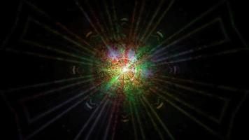 efeitos abstratos de luzes brilhantes escuras video