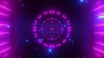 farbverändernder Raumteilchentunnel