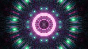 Farbwechsel endloser Lichttunnel