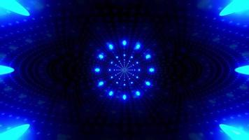 tunnel de points de néon bleu brillant