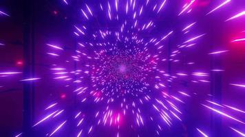 partículas de galáxia espacial vermelho-púrpura video