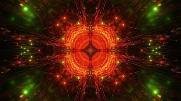 verde-vermelho abstrato arte 3d ilustração visual dj loop