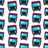 Ilustración de patrones sin fisuras de vehículo de camión vector