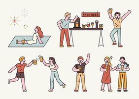 festival de la cerveza de verano.