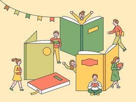 Book Festival poster. vector