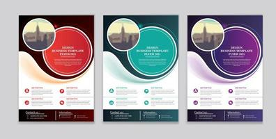 flyer template design for cover layout annual report