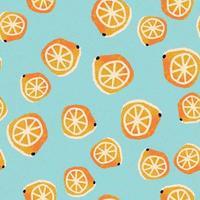 Hand-drawn lemons seamless pattern