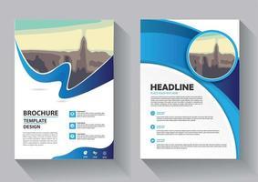diseño de plantilla de volante para el informe anual de diseño de portada vector