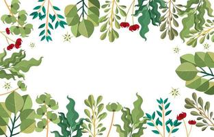 Green Nature Floral Background Concept vector