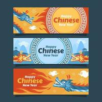 Chinese New Year Celebration with Dragon Character vector