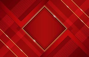Geometric Red with Gold Highlights and Diagonal Shape Composition vector