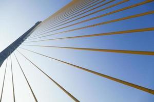Bridge structure close-up photo