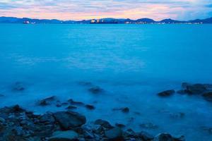 playa por la mañana foto