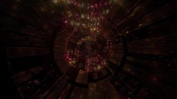 túnel de ficção científica marrom escuro brilhante