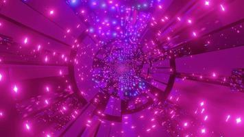 túnel de ficção científica colorido 3d ilustração loop dj