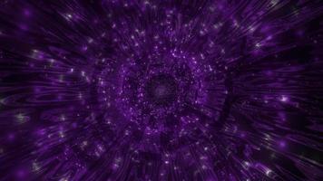 dunkelbraune und lila farbwechselnde 3D-Illustration
