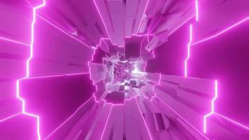 túnel de fantasia e ficção científica que muda de cor