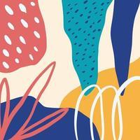 encabezado de arte de doodle creativo de fondo colorido abstracto con diferentes formas y texturas vector