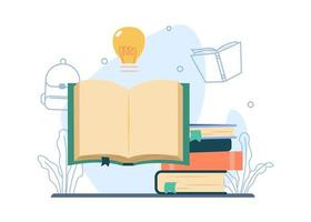 Study Literature concept vector