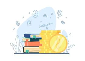 Scholarship education concept vector