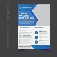 Creative Corporate Service Promotional Flyer Template vector