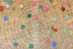 Colorful woven basket