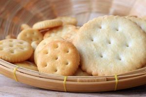 Crackers in basket photo