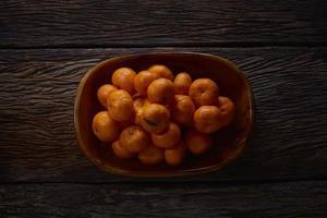 vista superior de naranjas foto
