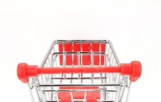 carrito de compras sobre fondo blanco