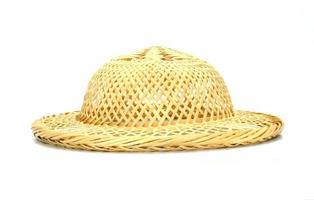 sombrero de bambú tejido
