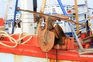 Rusty old anchor photo