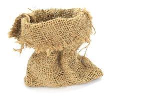 saco de arpillera vacío
