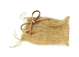 Burlap cloth and bow