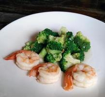Broccoli with shrimp